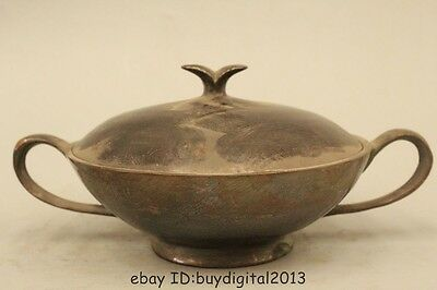 Old Marked Chinese Dynasty Pure Bronze Wonder Bowl-like object Bowl