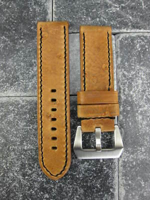 24mm NEW MOON COW LEATHER STRAP Watch Band PAM Brown Tang