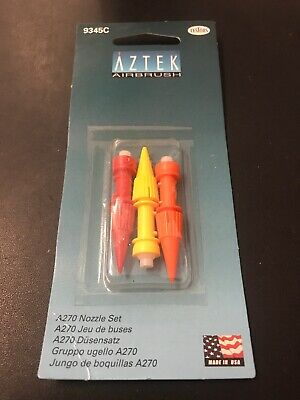 AZTEK AIRBRUSH A270 NOZZLE SET by TESTORS 9345C Brand New