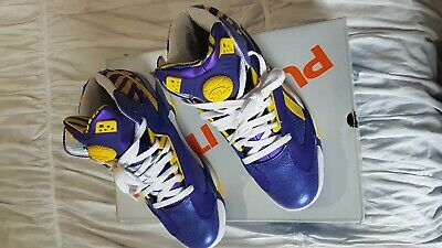 a6d87e35422 Reebok Men s SHAQ ATTAQ The Pump LSU TIGERS Basketball Shoe M40343 SZ 9