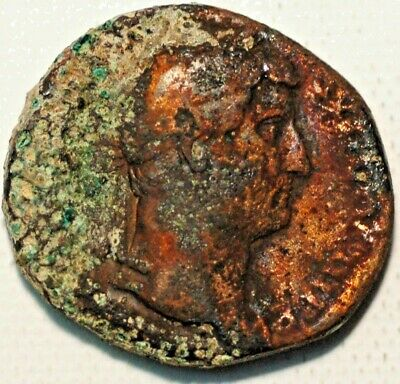 Ancient Roman coin Roman Imperatore ND Dupondus