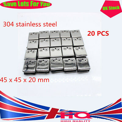 Easy to install, Square Stainless Steel Glass Clamp Holder fixing the bath glass