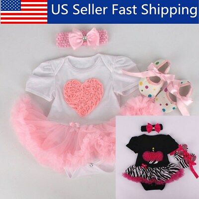 Doll Clothes 22inch Girl Baby Dress Skirt Outfits Kids Gift Pink Handmade Pink