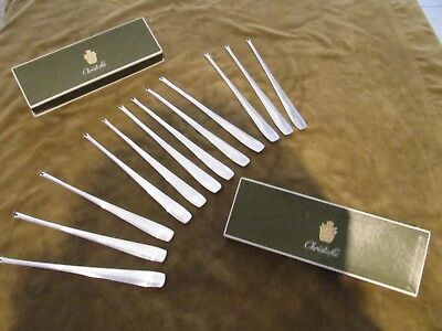 rare vintage french silverplate Christofle 12 lobster forks art deco style