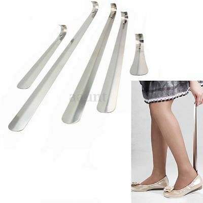 Stainless Steel Durable Long Handle Shoehorn Shoe Horn Lifter Silver 16-58cm L^R