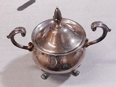 Vintage Bristol Silverplate by Poole Handled Sugar Bowl #110