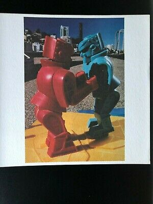 Yura Adams Artsounds signed numbered limited lithograph 1986 Toy Robot Pop Art