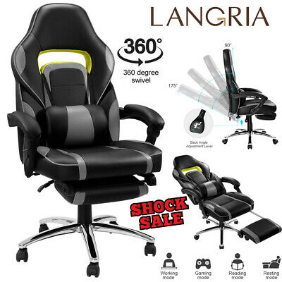 Ergonomic Racing Gaming Chair Office Computer Swivel High Back Recliner Chair
