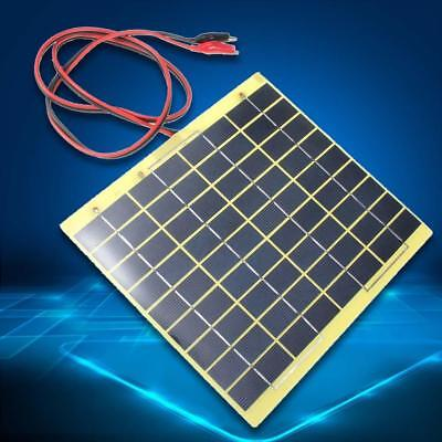 12V 5W Solar Panel Fit Car Battery Irrigation Trickle Charger Backpack Power BG