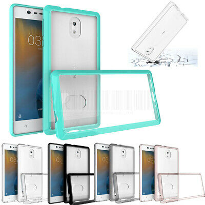 Thin Hybrid Clear TPU Hard Case Shockproof Silicone Bumper Cover For Nokia 3 6 8