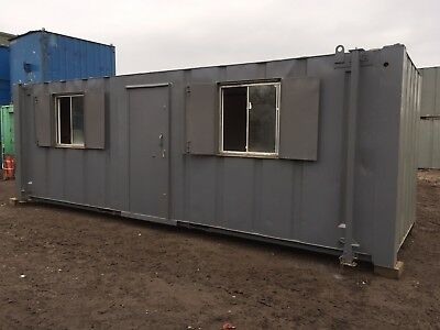 Site Office Cabin Portable Building Anti Vandal Steel 24ft x 8ft