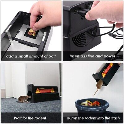 Electric Zapper Rodent US Electronic Mouse Trap Victor Control Rat Killer Pest