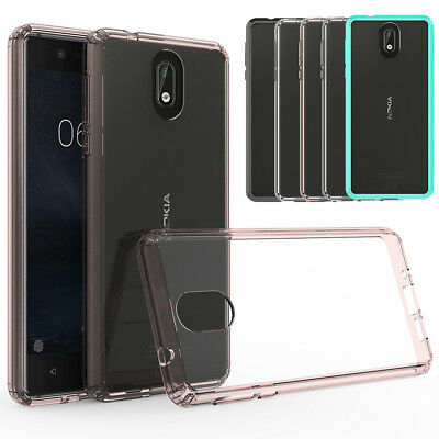 Hybrid Slim Clear Shockproof Bumper Tough Hard Phone Case Cover For Nokia 3.1