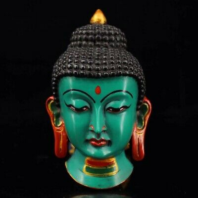 Chinese Tibetan temple collection painting Sakyamuni mask Home decoration