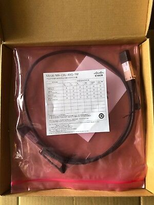 Genuine Cisco Meraki 40GbE QSFP Stacking Cable, 1m MA-CBL-40G-1M , A30-22130