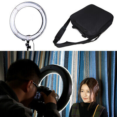 "18""Photography Ring Light Fluorescent 75W 5500K Dimmable w/ Bag for Camera Video"