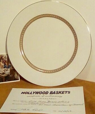 CHARMED Set-Used Prop China LARGE PLATE HALLIWELL MANOR with COA Copy