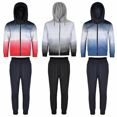 Girls Boys Ombre Tracksuits Kids Hooded Top Jacket Pants Bottoms Trousers 3-16 Y