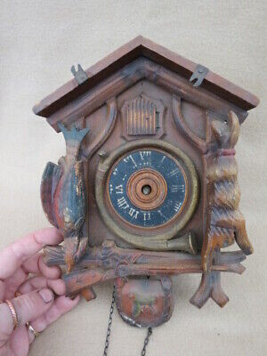 Antique / Vintage Forestall Cuckoo Clock For Spares Repair
