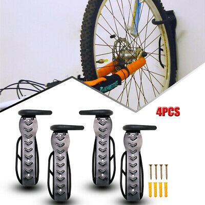 4PCs Bicycle Bike Stand Storage Rack Wall Mount Holder System Hook Hanger Steel