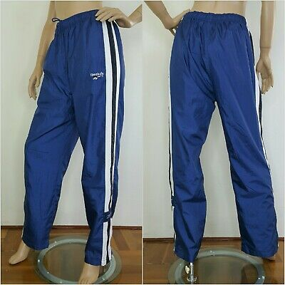 Vintage Retro Windbreaker pants Reebok colour block track pants Fits Size M