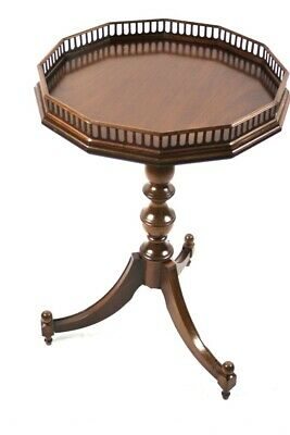 Vintage  Mahogany Gallery Top Wine Table - FREE Shipping [P5051]