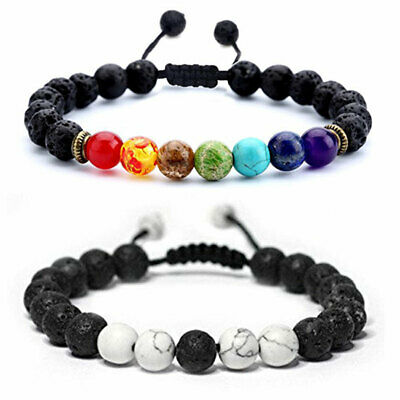 7 Chakra Crystal Stones Bracelet. Healing Beads Jewellery. Natural Reiki anxiety