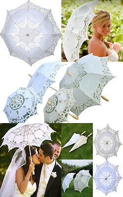 Lace Parasol Umbrella Embroidered Sun Umbrella Bridal Wedding Party Decor Mode