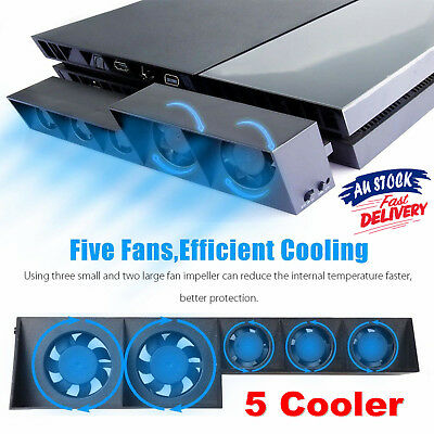 USB Cooling Fan 5 Cooler External Turbo Temperature Control for Playstation PS4