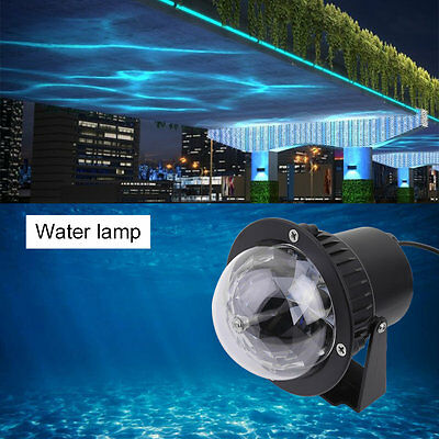 Remote RGB LED Water Wave Ripple Effect Stage Light Lighting Laser Projector CU