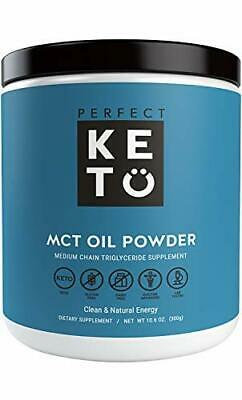 Perfect Keto MCT Oil Powder: Unflavored Ketosis Supplement for Ketone Energy
