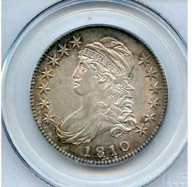 1810 Bust Half Gorgeous And Lustrous Pcgs Au55 Great Die Cracks Fresh To Market