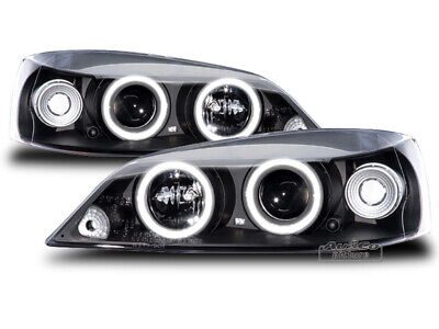 Pair Headlights Opel ASTRA G 97-04 Halo Rims Black SONAR TUNING NL LPOP19EN XINO