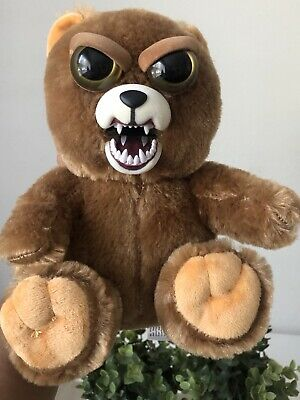 Feisty Pets Brown Bear Squeeze Scary Plush Soft Toy 22cm Tall Used Collectable