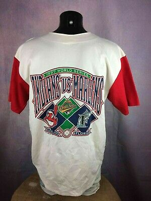 WORLD SERIES 1997 Jersey Maillot True Vintage Cleveland Indians Florida Marlins