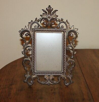 Antique Vintage Victorian Cast IRON Free Standing Picture Frame