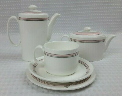 Royal Doulton Bone China Tea / Coffee For One Set - Vintage Retro Pink Excellent