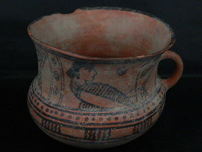 Ancient Large Size Teracotta Painted Jug Roman 100 BC #PT344