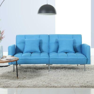 MODERN CONVERTIBLE SOFA Tufted Upholstered Futon Living Room Couch Sleeper  Bed