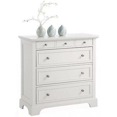 WHITE DRESSER CHEST 4 Drawer Storage Bedroom Media Wood ...