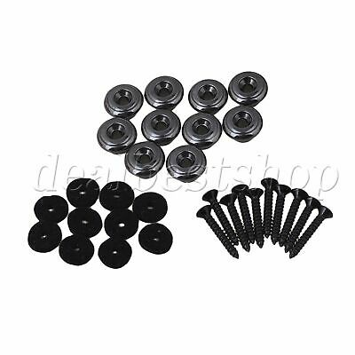 10x Mushrooms Strap Lock Black Chrome Guitar Strap Buttons for Bass Guitar Parts