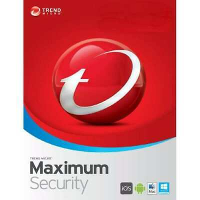 Trend Micro Maximum Security 2019 3 Device 1 Years PC | MAC | Android