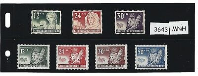 #3643   Two Complete MNH Stamp sets / Winter  Relief / 1940 Poland Occupation