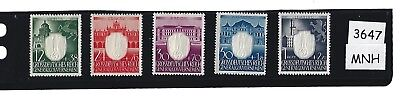 Complete  MNH Stamp set / Embossed Swastika / 1943 Poland / Nazi  Occupation