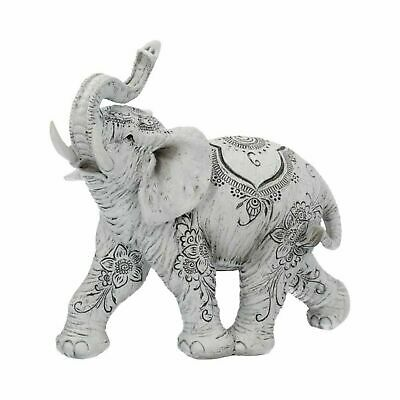 Henna Hope 18cm White ELEPHANT Figurine Ornament Jumbo Elephant Gift Art Deco
