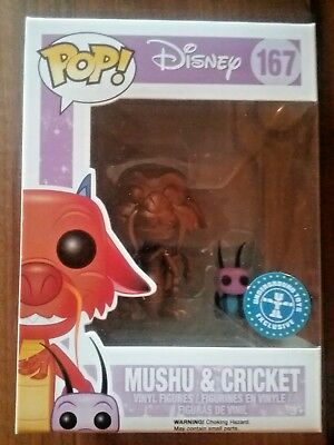 Funko Pop! Gold Mushu and Cricket from Disney's Mulan Exclusive #167