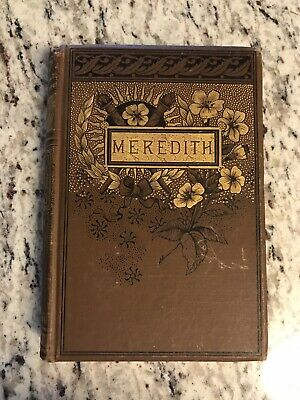 "circa 1890 Antique Poetry Book ""The Poetical Works of Owen Meredith"""