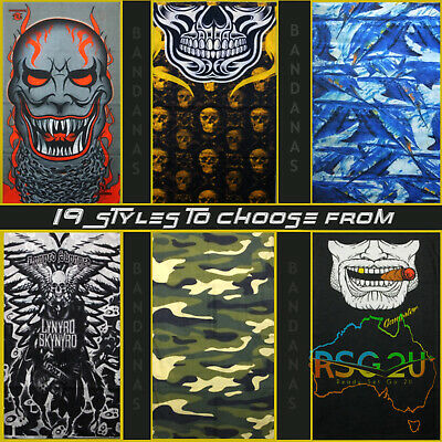 Bandana Face Shield Mask Fishing Head Biker Neck Tube Scarf Skull Head 21 Types