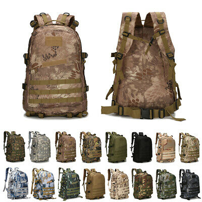 3D Hiking Camping Bag Army Military Tactical Outdoor Trekking Rucksack Backpack
