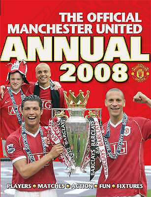"""""""VERY GOOD"""" The Official Manchester United Annual 2008, United, Manchester, Book"""